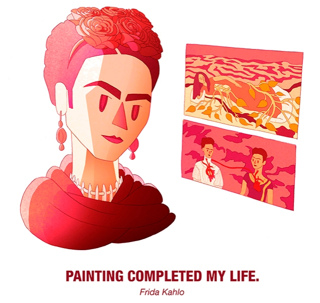 Drosia_illustration_Frida_Kahlo_cartoon