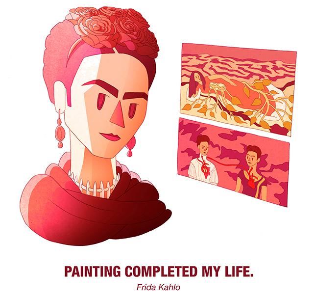 Drosia_illustration_Frida_Kahlo_cartoon